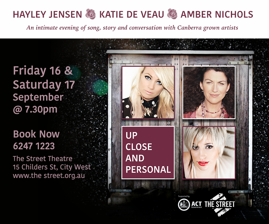 Image of the Up Close and Personal Concert Hayley Jensen, Katie de Veau, Amber Nichols