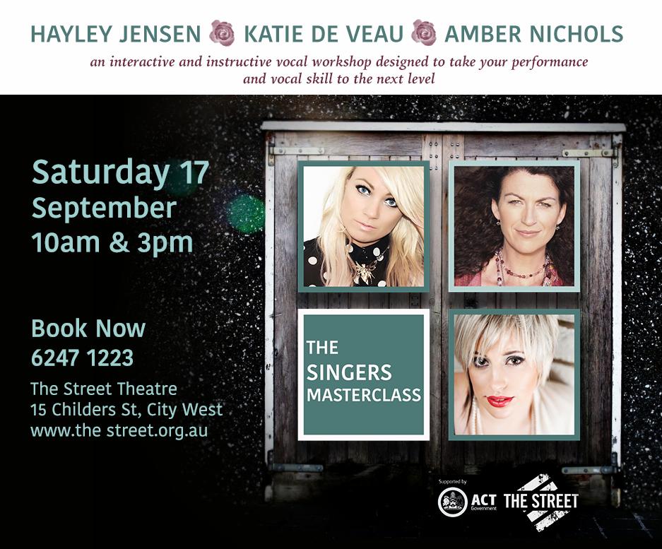 Image of the Singers Masterclass, Haley Jensen, Katie de Veau, Amber Nichols